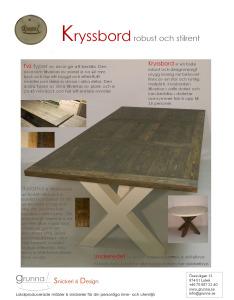 Produktblad-Kryssbord